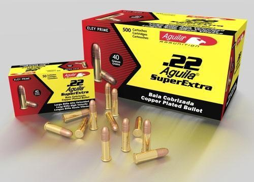 aguila 22lr ammo high velocity sp 40gr copper coated lead 1000rds