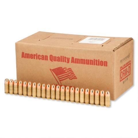 American Quality 9mm Ammunition 500 Rounds, JHP, 115 Grains