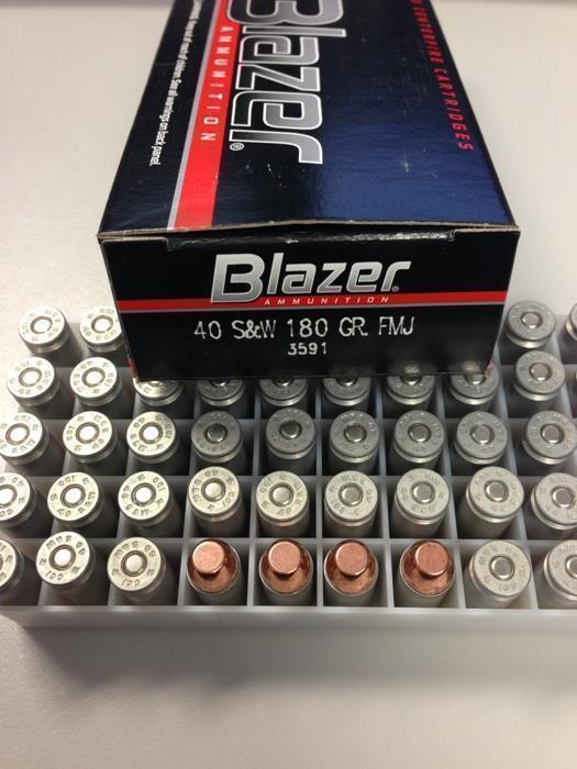 cci blazer ammunition 40 s w 180g aluminum wholesale outdoors