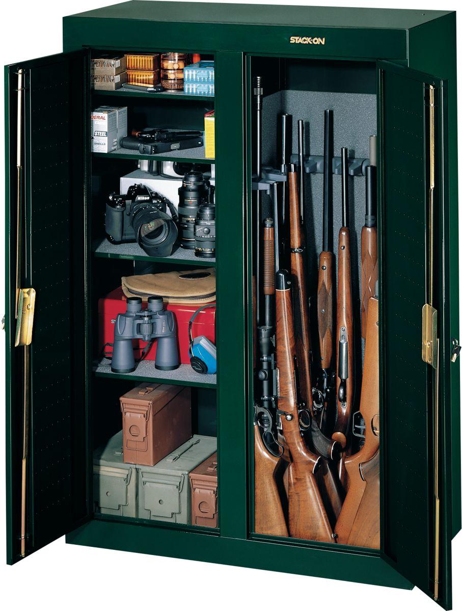 Stack On 16 Gun Double Door Cabinet 29599 Free 2 Day Sh Over