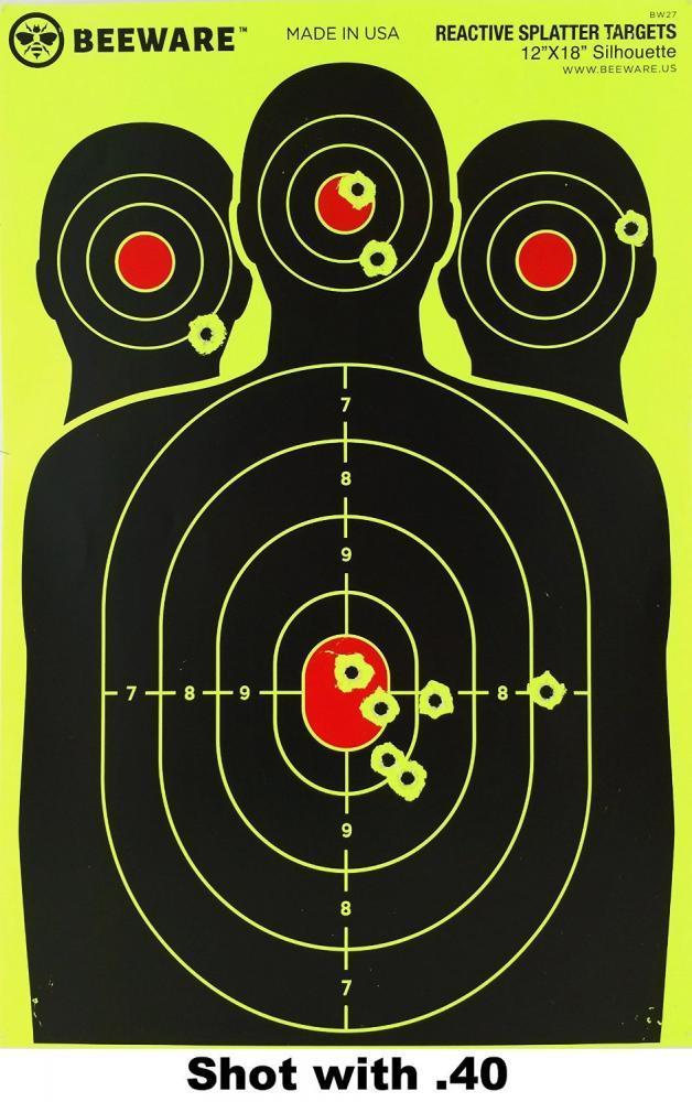 """Shooting Splatter Targets 12/""""x18/"""" Gun Shoot Bad Guy Reactive Paper Target 10 Pk"""