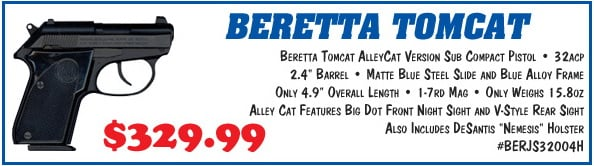 "Beretta Tomcat AlleyCat Version  32 ACP 2 4"" barrel 7 Rnds - $329 99 + Free  Shipping ($0 - $3 99 S/H)"