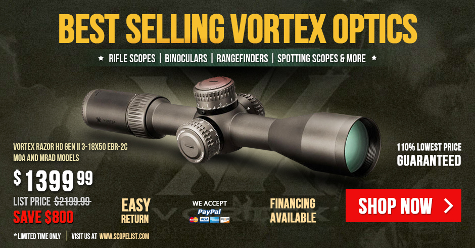 Bestselling Vortex Optics - Closeouts and New Arrivals!
