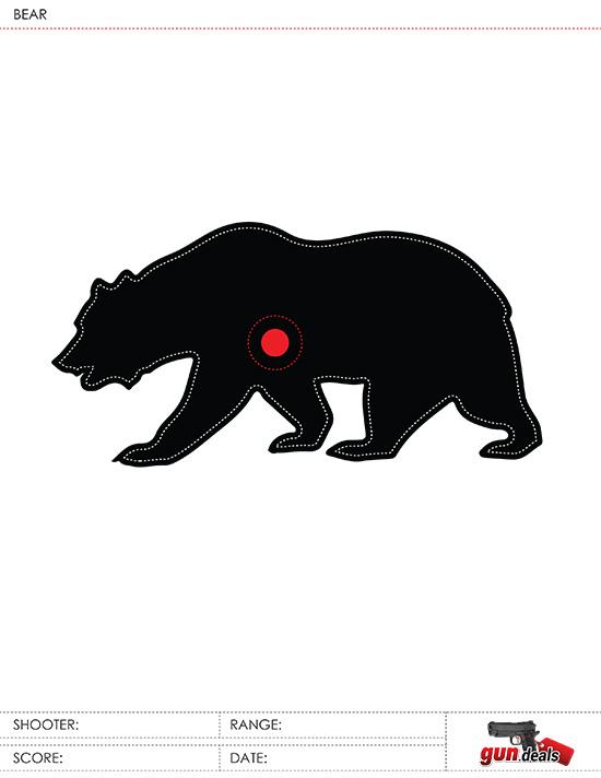 gun.deals bear sight-in target