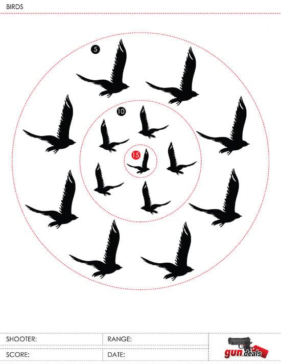 gun.deals birds bullseye ring target