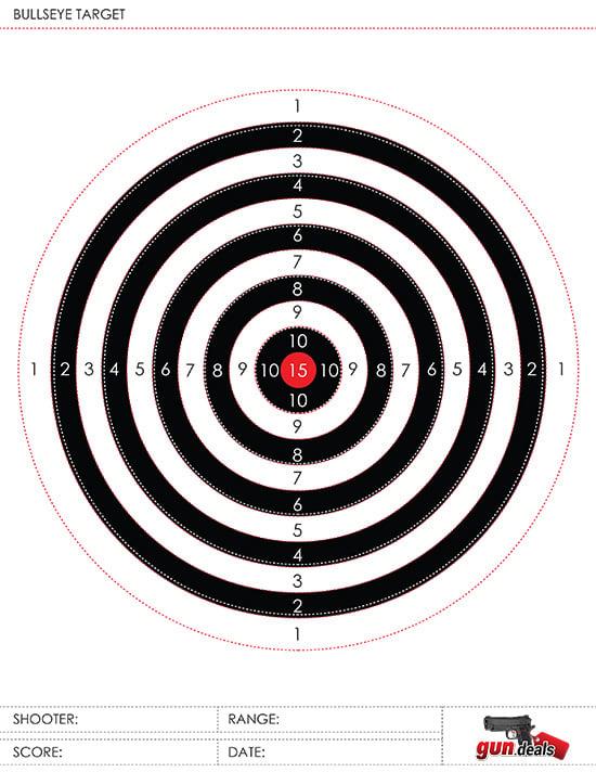gun.deals bullseye target