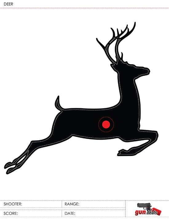 gun.deals deer buck leaper sight-in target