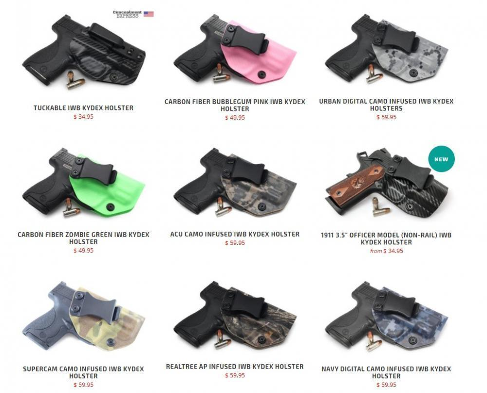 IWB KYDEX Holster Top Sellers, US Made, Always In Stock, Lifetime Warranty  & Free Shipping from $34 95
