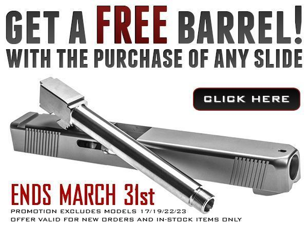 Get A Free Barrel With The Purchase Of Any Slide @ Lone Wolf Glock