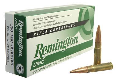 Remington Ammunition L300AAC4 Subsonic 300 AAC Blackout/Whisper (7 62X35mm)  220 GR Open Tip Flat Base 20 Bx/ 10 Cs - $14 50