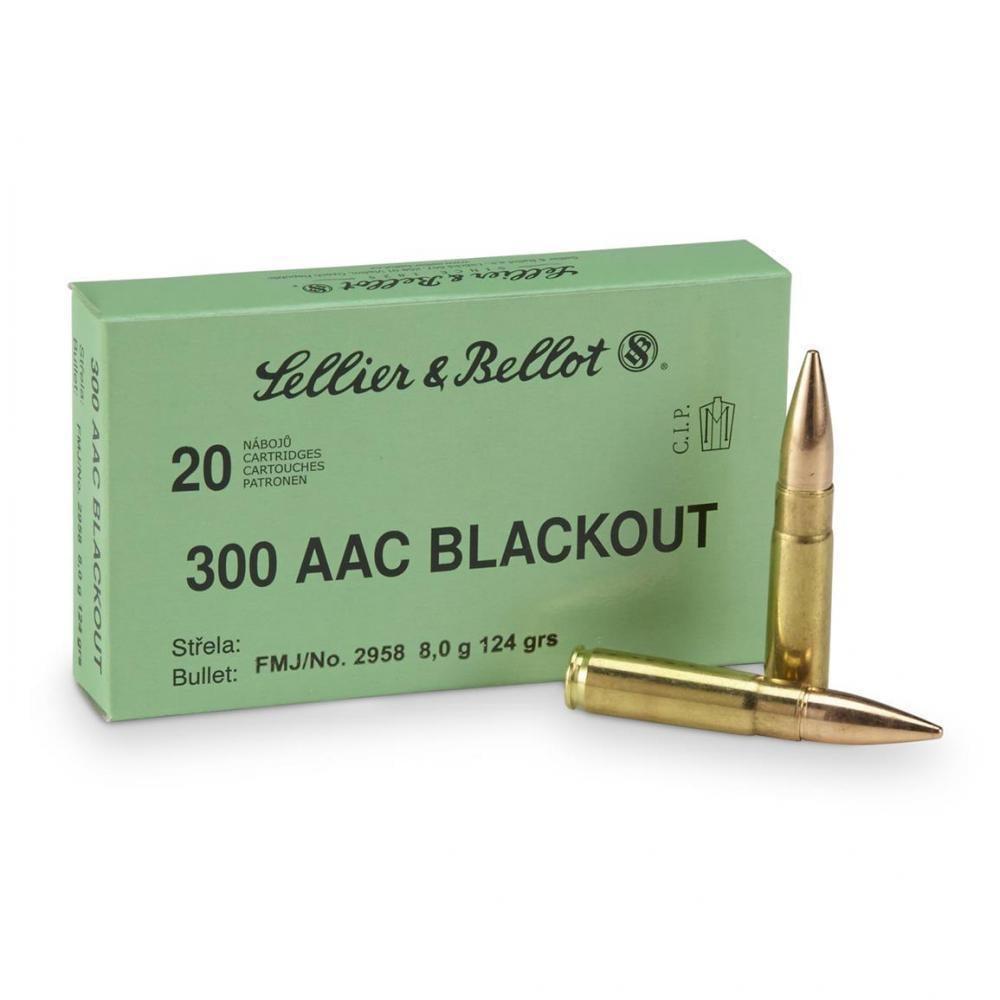 Sellier & Bellot,  300 AAC Blackout, FMJ, 124 Grain, 20 Rounds - $10 99