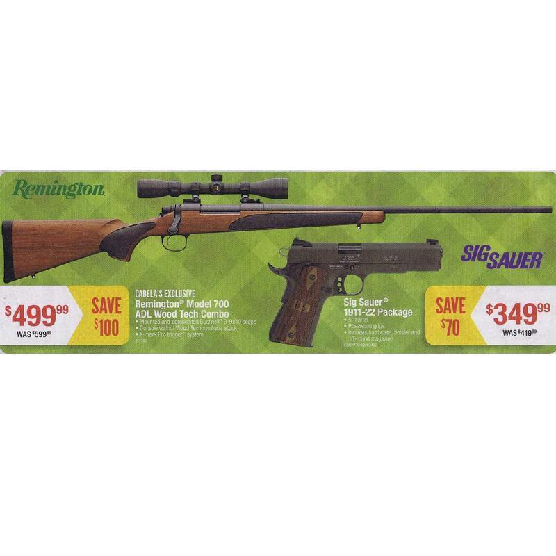 Remington Model 700 ADL Wood Tech Combo - $499 99 (Black Friday 2013 in  store only) (Free 2-Day Shipping over $50)