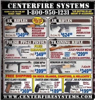 Centerfire guns discount coupon