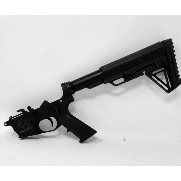 AR-9 9mm Glock Style Complete Lower with Alpha Stock LRBHO - $254 95 w/code