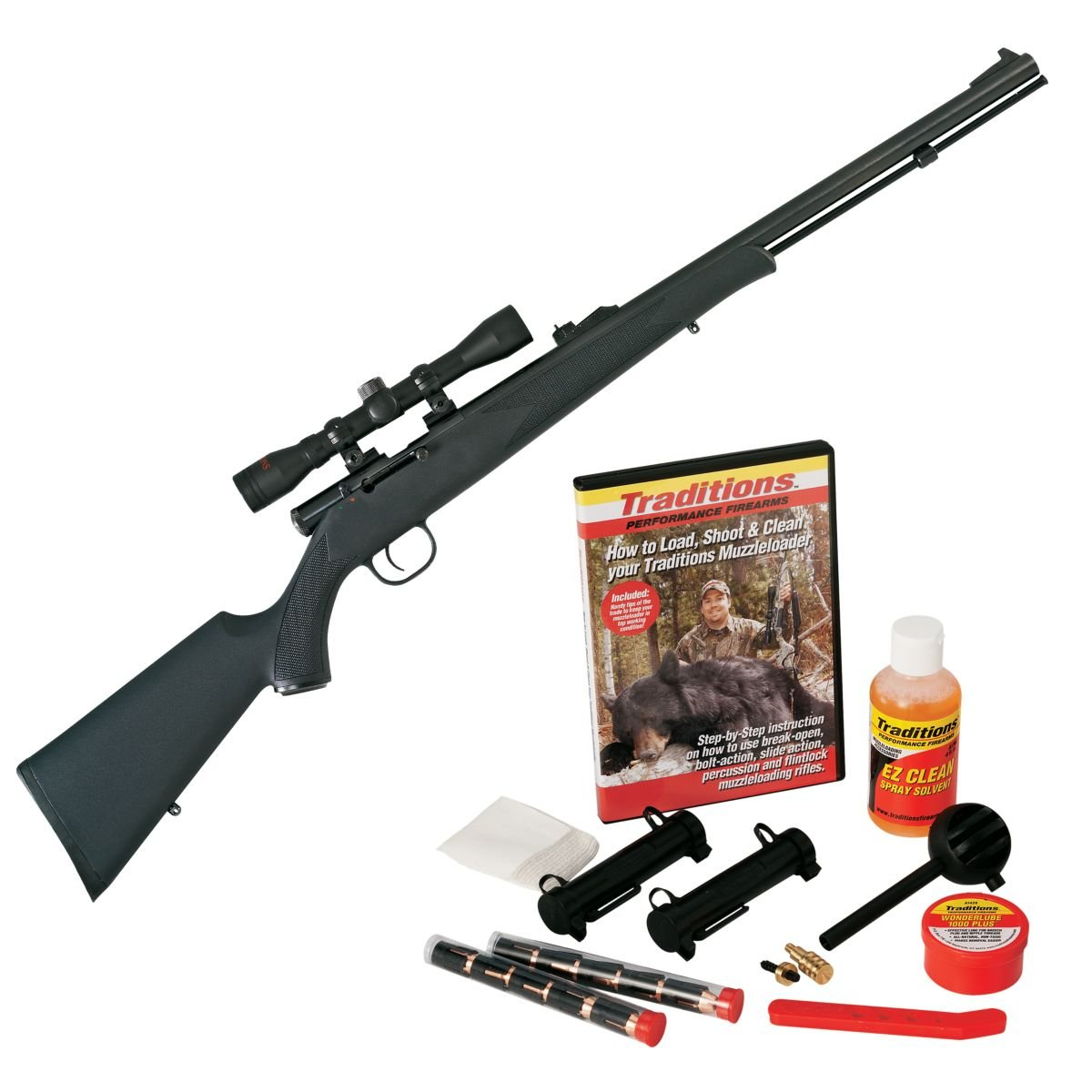 Traditions Timber Ridge  50-Caliber Muzzleloader with Redi-Pak and Scope -  $129 88 (Free 2-Day S/H over $50)