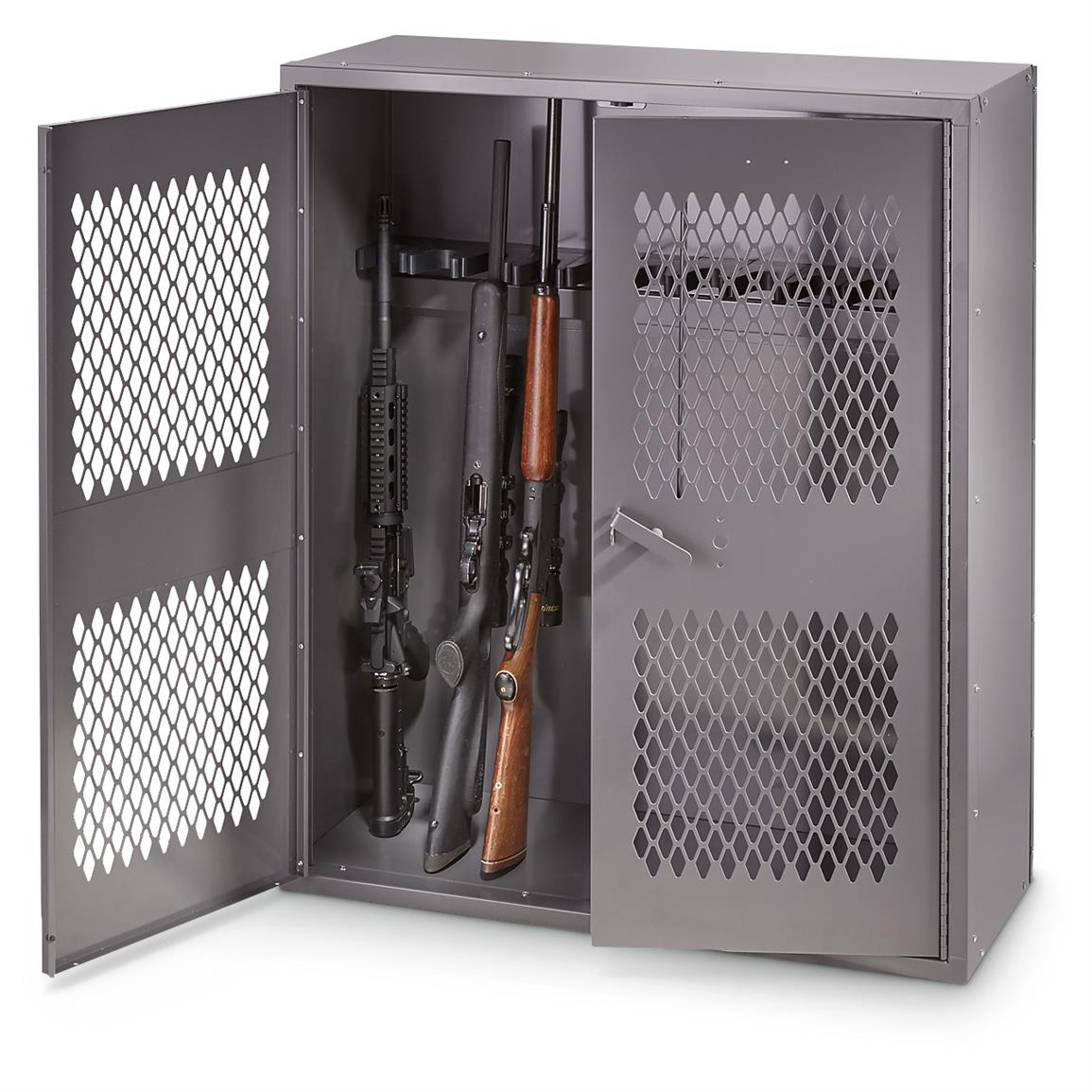 Hq Issue Metal Gun Locker 36 Quot W X 42 Quot H 179 99 Gun Deals