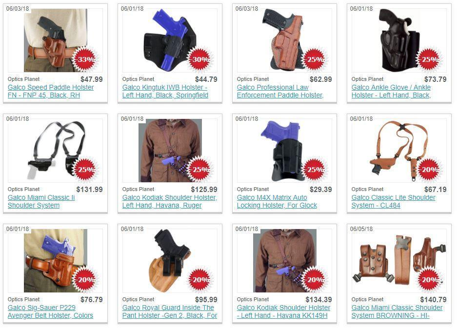 Galco Holster Sale @ Optics Planet (Free S/H over $49)
