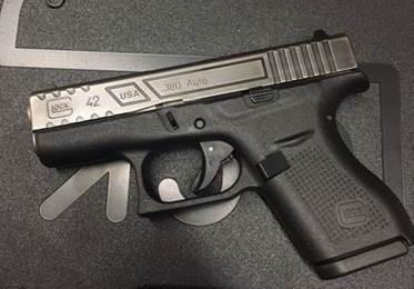 Glock 42 3 2 Sub Compact 380 Acp Mod1 Relief Cut Battleworn 680 Gun Deals
