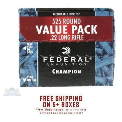 Federal  22 Long Rifle 36gr Copper Plated HP Champion