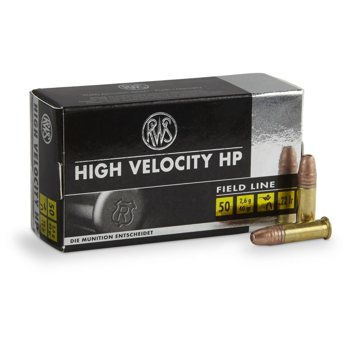 50 rounds rws 22lr hv field line hp ammo 8 99 free s h over 49