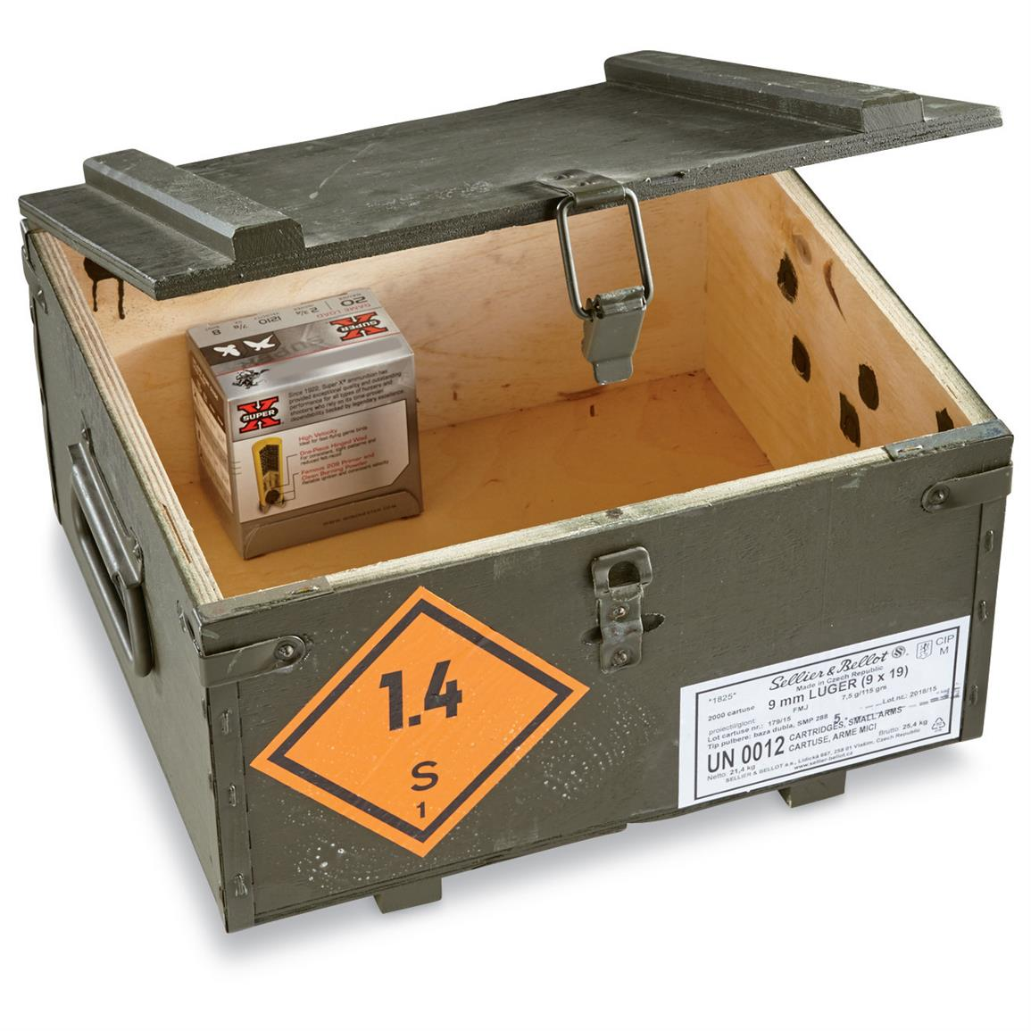 Czech Military Surplus Wooden Ammo Crate Like New 1349