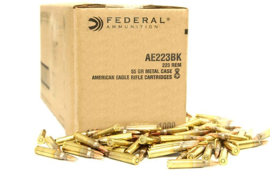 Federal American Eagle  223 Rem 1000 Rounds FMJ 55 Grain - $299 ($10
