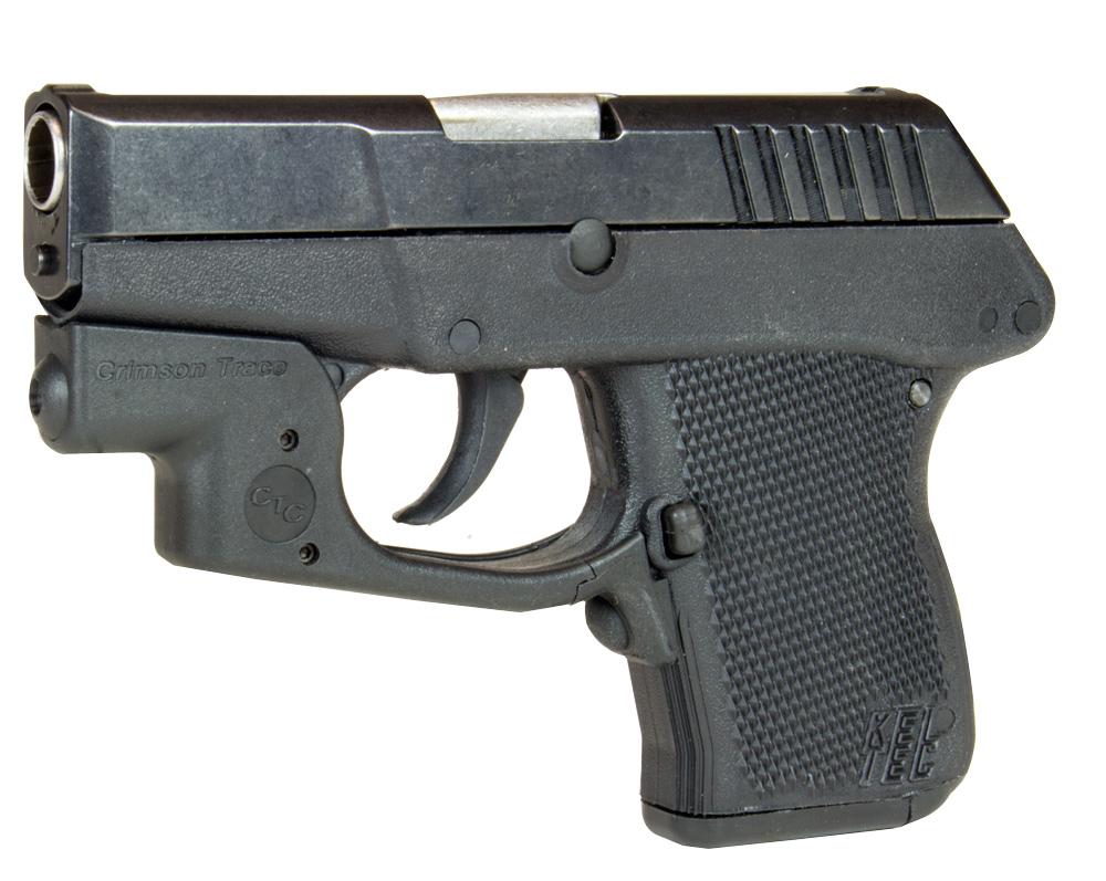 Kel-Tec P-3AT  380 ACP 6 Round Pistol with Crimson Trace Laser, Black -  $199 99 shipped