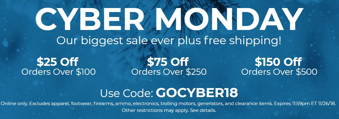 80b1d6c5720c Cyber Monday - Save Up To $150 With Coupon @ Gander Outdoors (Free S/H over  $99)