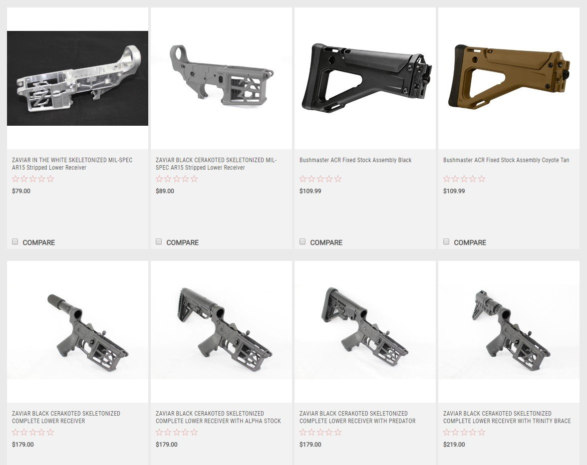 ZAVIAR Firearms AR-15 Multi-Cal Skeletonized Lower Receivers starting at $79