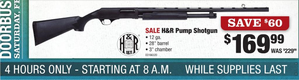 "H&R Pump Shotgun 12 Gauge 28"" Barrel 3"" Chamber in Store ..."