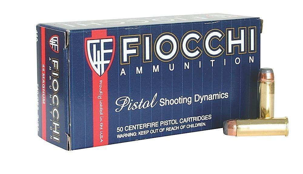 Backorder - Fiocchi Shooting Dynamics  44 Mag 240 Grain JSP 50 rounds -  $27 35