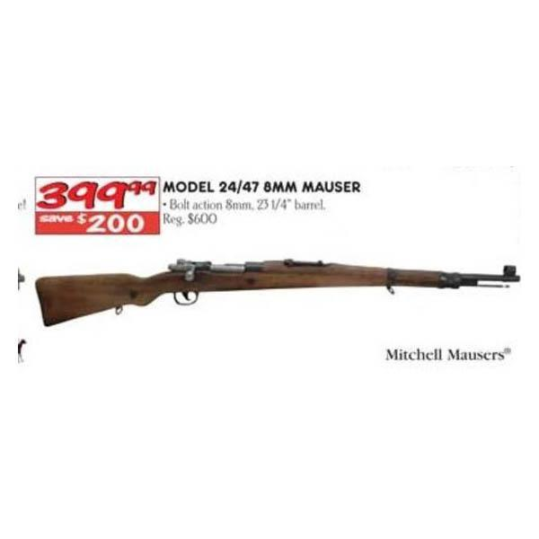 Mitchell Mausers Model 24/47 8mm Mauser - $399 99 (Valid on Black Friday  2013 in-store only)