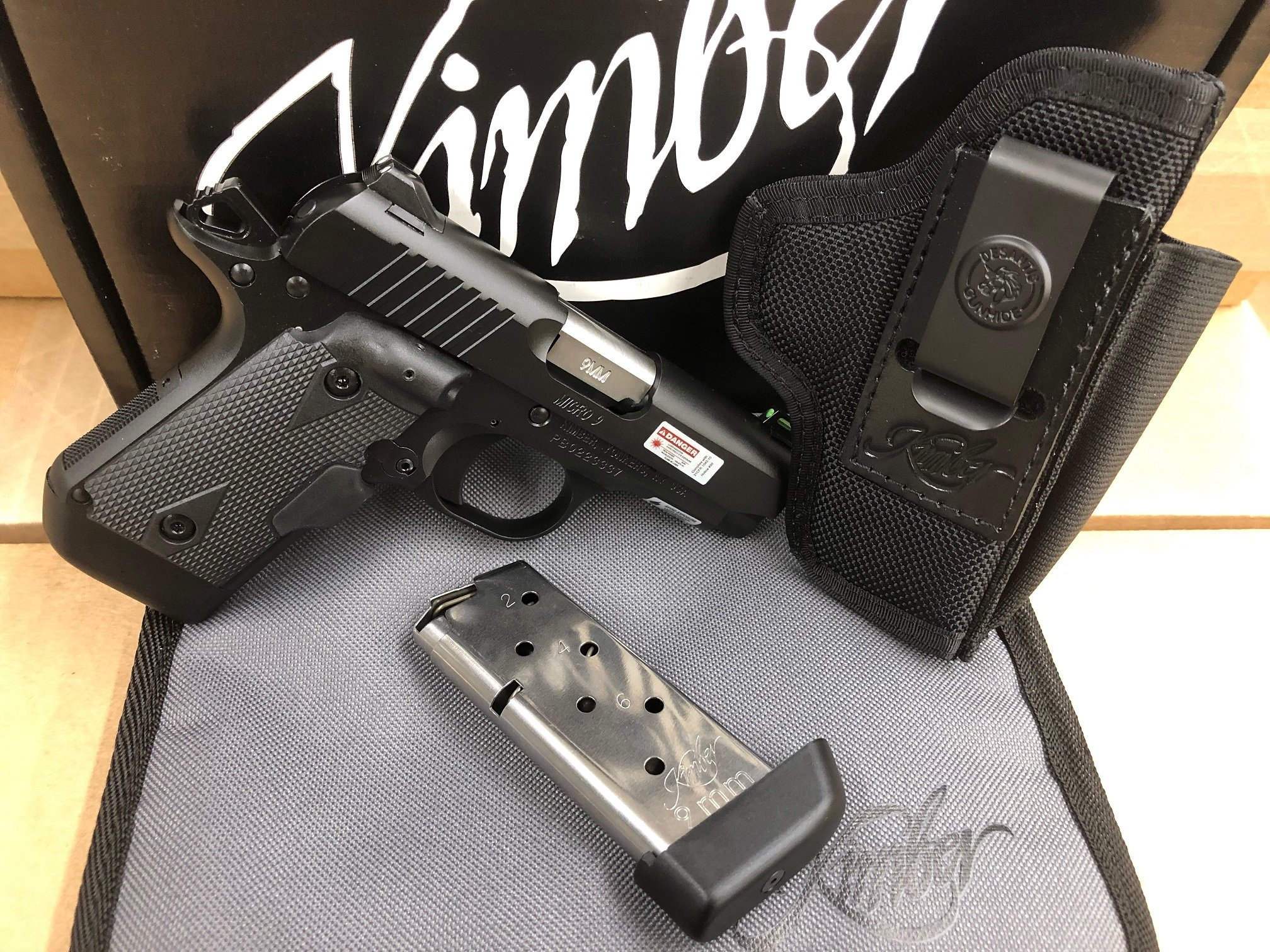 Kimber Micro 9mm SHOT SHOW 2019 Special with two 7rd mags, laser grip, and  desantis holster! - $579 99 (Free S/H on Firearms)