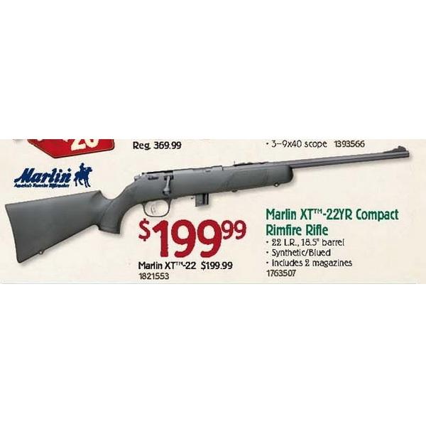 Marlin XT-22YR Compact Rimfire Rifle - $199.99 Bass Pro ...
