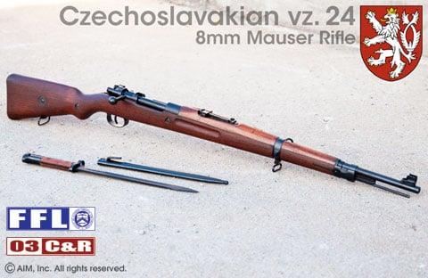 Czechoslovakian vz  24 8mm Mauser Rifle - $289 95