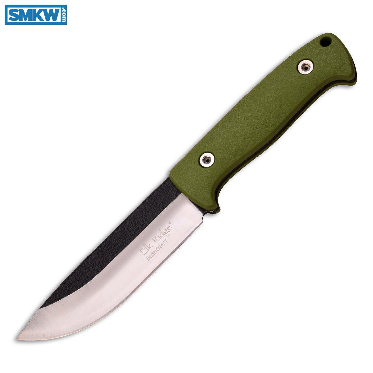 Master Cutlery Elk Ridge Fixed Blade Knife Green Nylon Fiber Handle w/  Sheath & Firestarter - $11 99 (Free S/H over $99, excludes ammo)