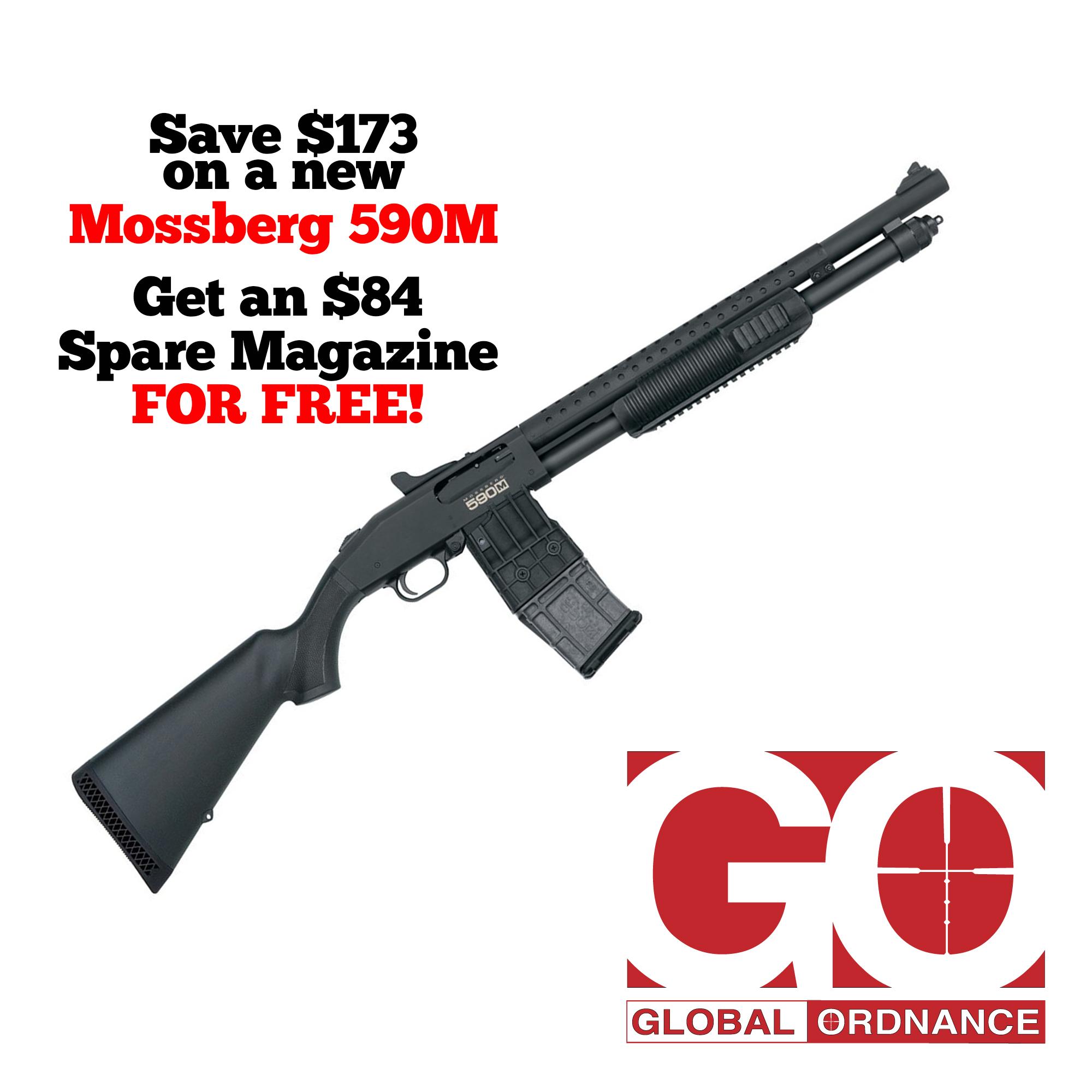 Mossberg 590M, Mag-Fed, Pump Action Shotgun, 18 5
