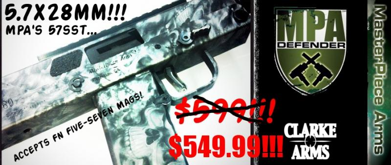 Masterpiece Arms 57sst with 'Grim Reaper' Coating! 5 7X28mm - $549 99