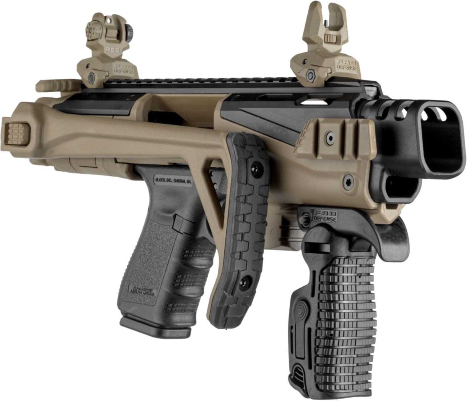FAB Defense KPOS Scout Pistol Conversion Kit for Glock 17/19  BLK/FDE/GRY/ODG - $205
