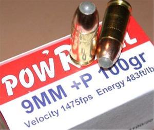 Corbon 9mm + P Pow'RBall Ammunition PB09100 20 rounds - $18