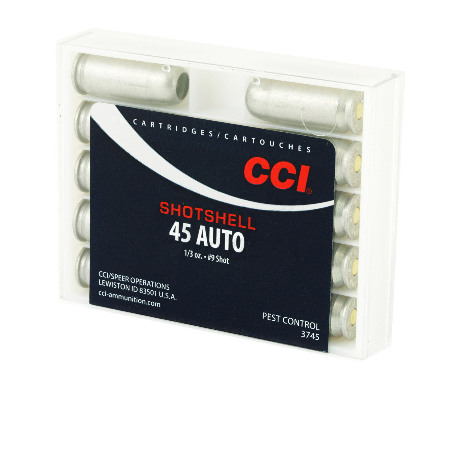 CCI Speer 45 ACP 117 Grain Shotshell Ammo, 10 Round Box - $12 20