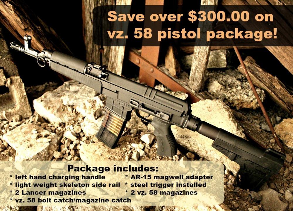 Sa vz 58 Pistols - vz  58 Pistol 556B-SPEC - Czechpoint - $1245