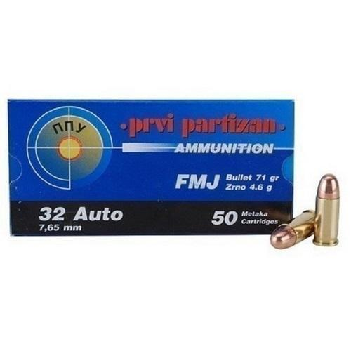 Prvi Partizan  32 ACP 71-Gr  FMJ 50 Rnds - $12 34