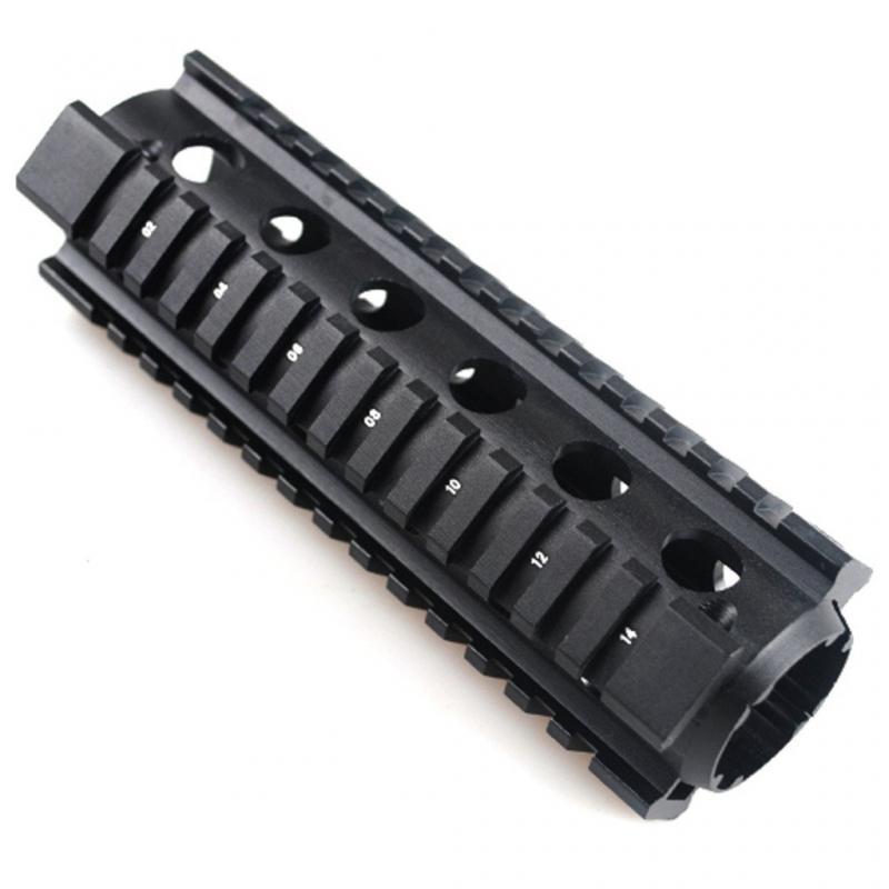 AR15 Carbine Length Rifle Weaver Picatinny Quad Rail Aluminum Handguard -  $17 23 + Free Shipping* (Free S/H over $25)