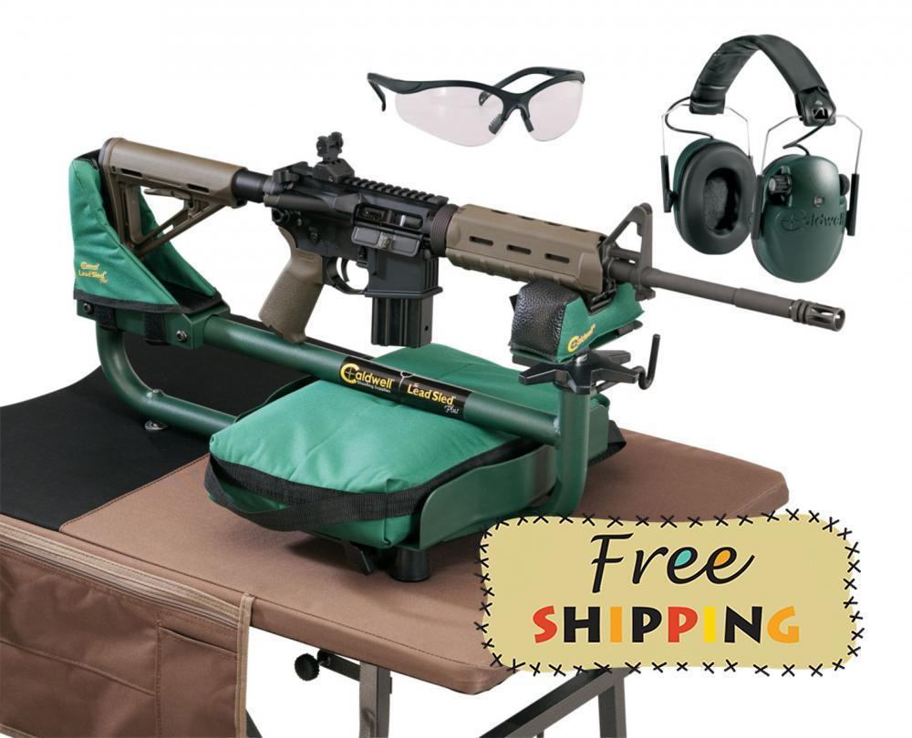 Caldwell Lead Sled Plus Rest w/ E-Max Low Profile Muffs & Shooting Glasses  - $85 after $15 off code (small filler item required)