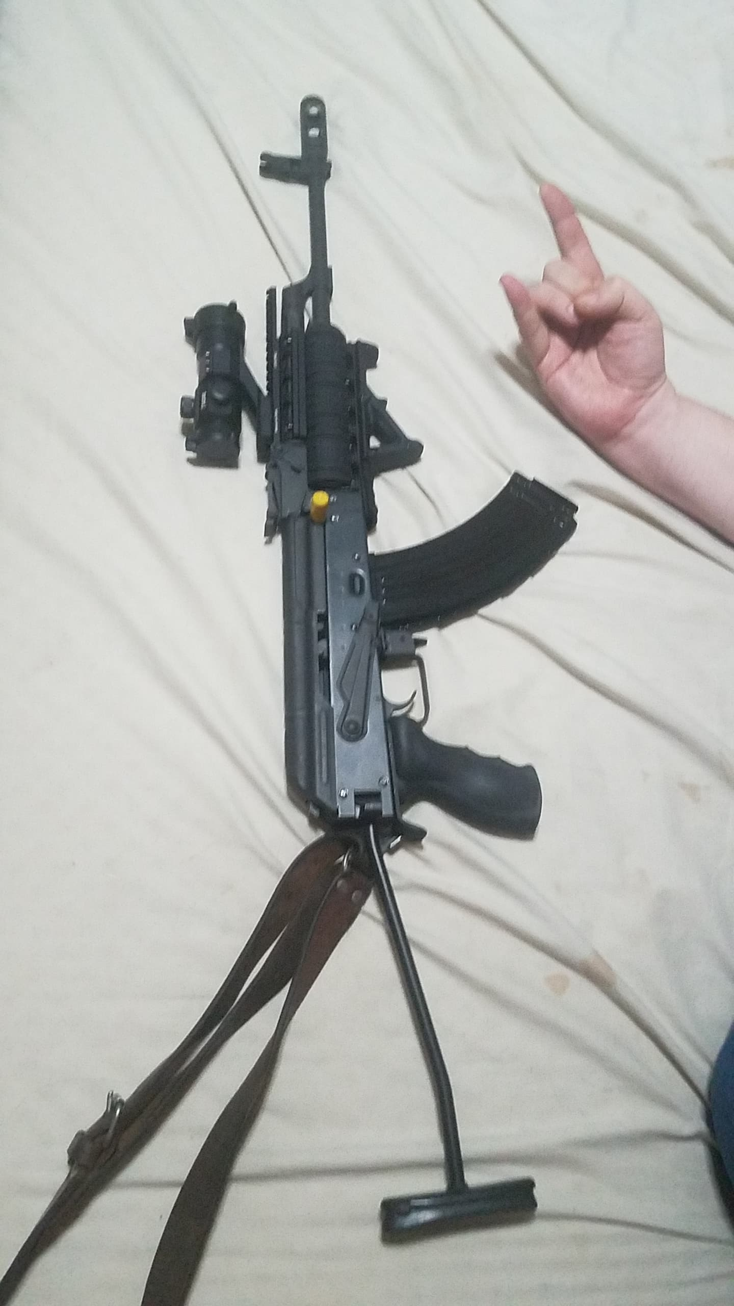 AMD 65 AK Rifle Parts Kit Hungarian Pre-Barreled & Finished Excellent to  Like New Less Receiver - $279 99