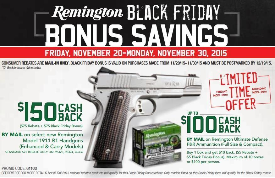 Remington 1911 R1 Enhanced and Carry Models with $150 Mail In ...