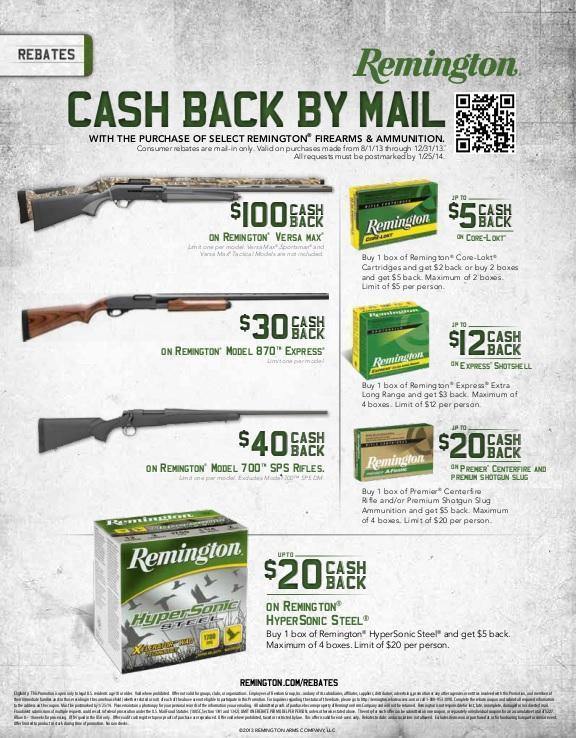Remington 700 SPS rebate | Slickguns | gun.deals