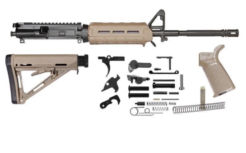 Del Ton Ar 15 M4 Rifle Parts Kit W Magpul Dark Earth Furniture Rkt100 Mlokde No Ffl Required 499 99