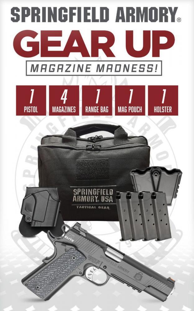 Springfield 1911 Range Officer Elite Operator 45ACP + 4 Magazines & Range  Bag - $859 (Free S/H on Firearms)